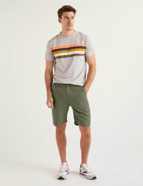 Cotton Linen Utility Shorts