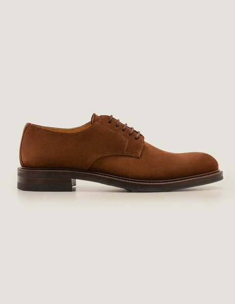 Corby Derby Shoes - Chestnut Suede