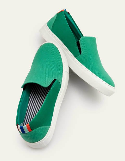 Slip-on Trainers - Washed Eden Green