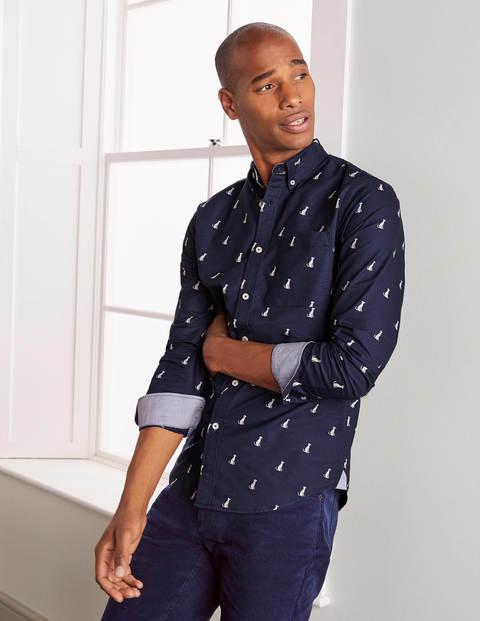 Modern Oxford Shirt - Navy Dalmatian