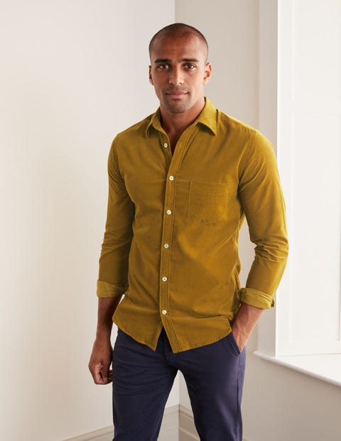 Cord Shirt - Hot Mustard Yellow