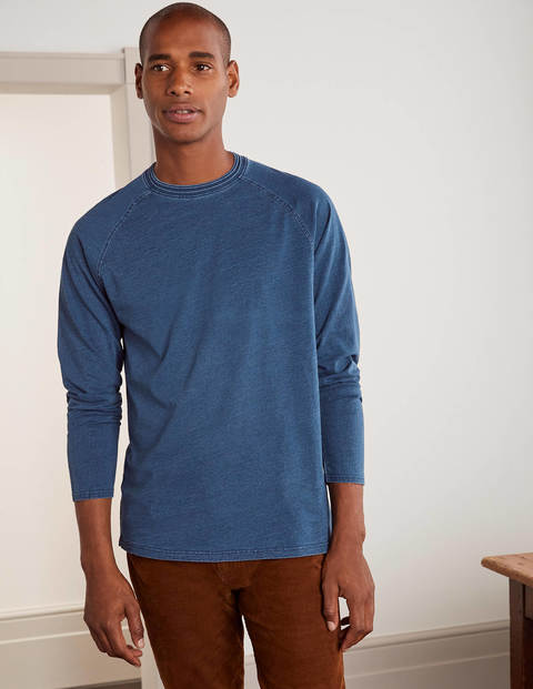 Long Sleeve Indigo Raglan