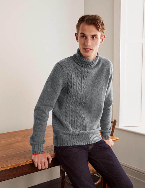 Lambswool Roll Neck - Charcoal