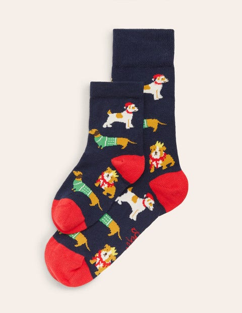 Festive Mini Me Socks - Festive Dogs