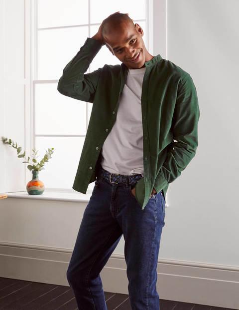 Grandad Cord Shirt - Washed Emerald Green