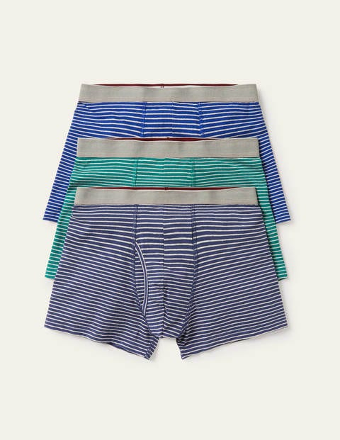 3 Pack Jersey Boxers - Marl Stripe Pack