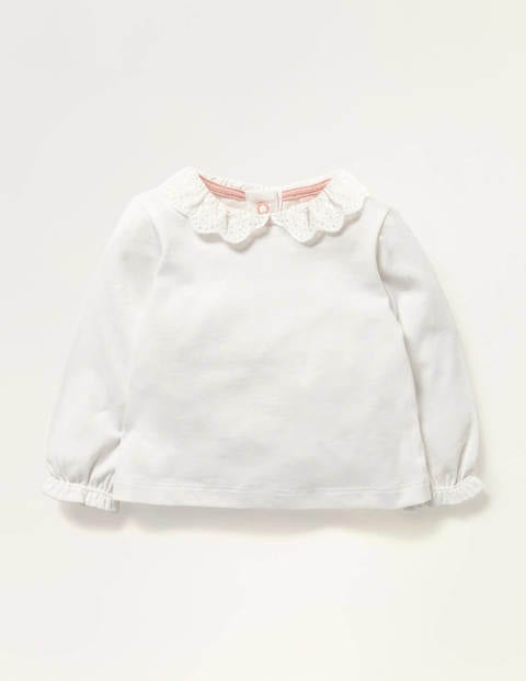 Broderie Collar T-shirt - Ivory Broderie
