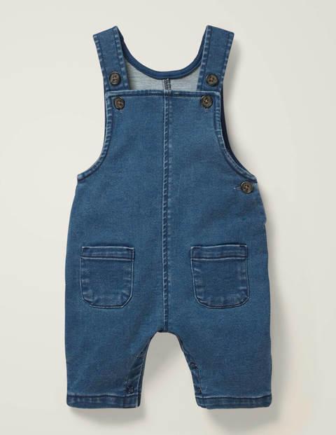 Salopette en jean et jersey - Bleu denim
