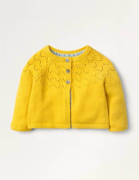 Cosy Cardigan - Honeycomb Yellow