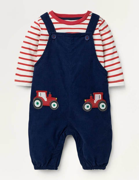 Cord Dungaree Set