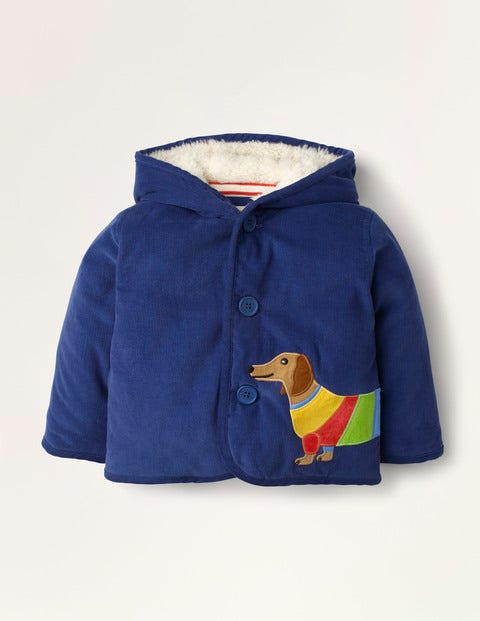 Cord Jacket - Starboard Blue Sausage Dog