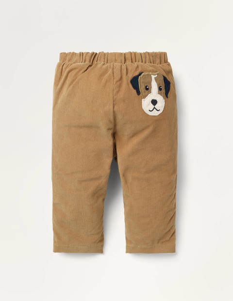 Jersey-lined Cord Pants - Butterscotch Brown Sprout