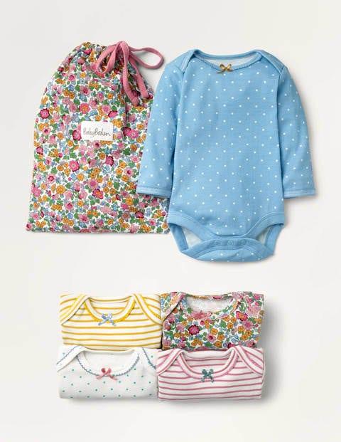 5 bodies à motif floral - Motif floral vintage bébé