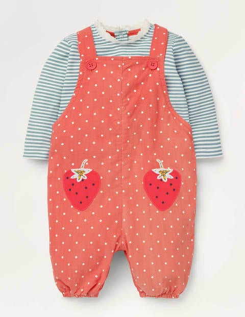 Appliqué Patch Dungaree Set