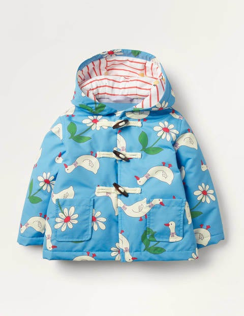 Water Resistant Printed Duffle - Baby Blue Daisy Duck