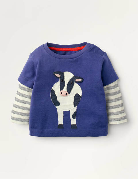 Farm Animal T-shirt - Starboard Blue Cow