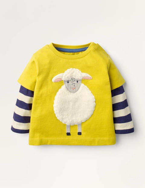 Farm Animal T-shirt - Mimosa Yellow Sheep