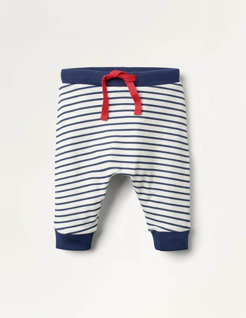 Newborn Leggings - Ivory/Starboard Blue
