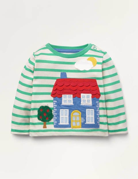 Lift The Flap T-shirt - Ivory/Highland Green House