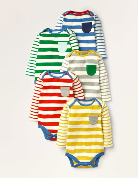 Stripy 5 Pack Bodies - Multi Stripe