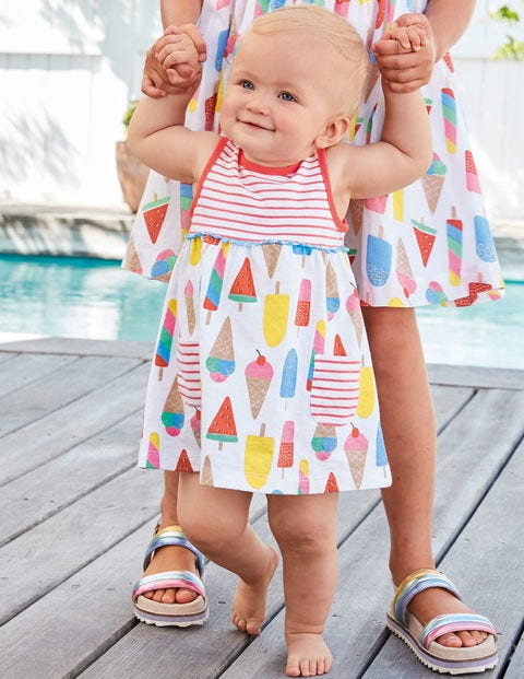 Printed Jersey Dress - Multi Baby Ice Creams