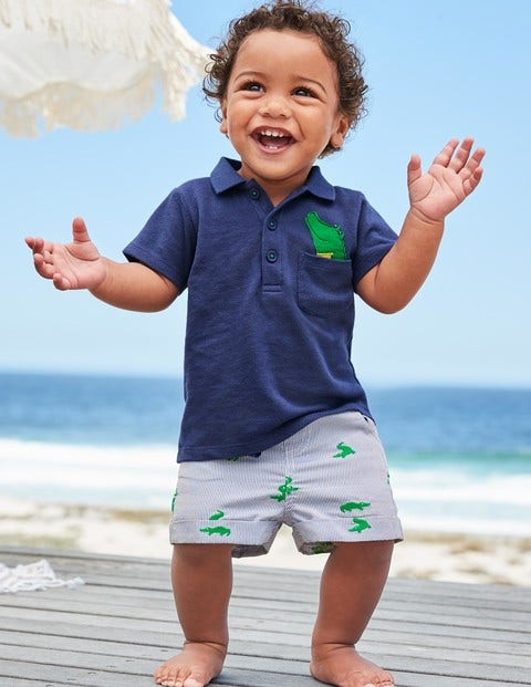 Piqué Polo and Short Set