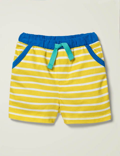 Essential Jersey Shorts - Primrose Yellow/White