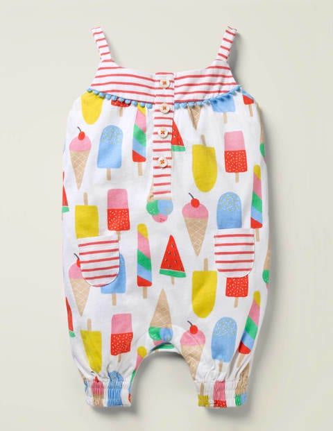 Hotchpotch Jersey Romper - Multi Baby Ice Creams
