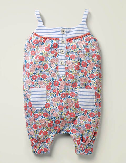 Hotchpotch Jersey Romper - Pink Flowerbed