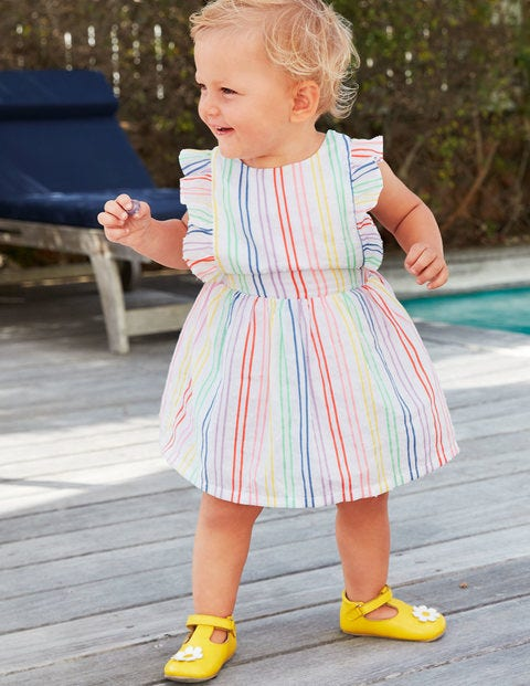 Rainbow Stripe Pinafore - Rainbow Stripe