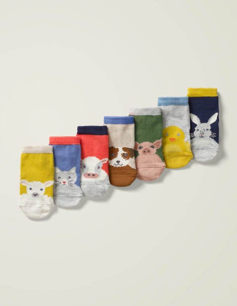 7 Pack Sock Box - Farm Friends