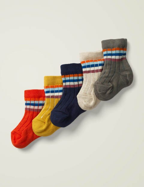5 Pack Ribbed Socks