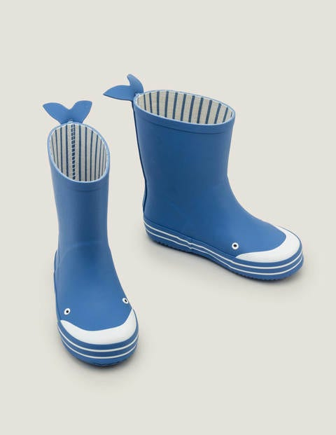 Whale Wellies - Sky Blue