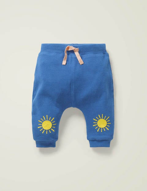 Ribbed Patch Bottoms - Sky Blue Sunshine
