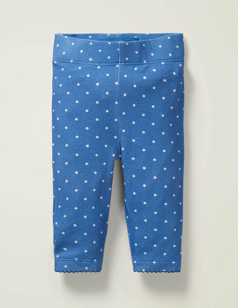 Essential Baby Leggings - Sky Blue/Ivory Pin Spot