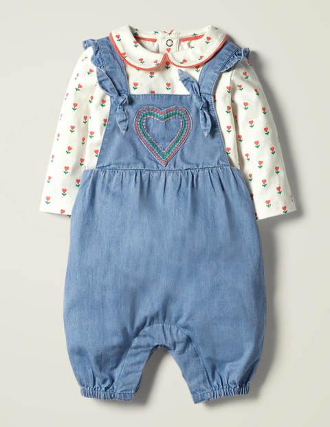 Chambray Dungaree Set
