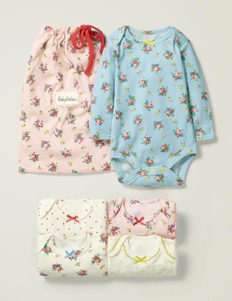 5 Pack Bodies - Boto Pink Duckling Meadow