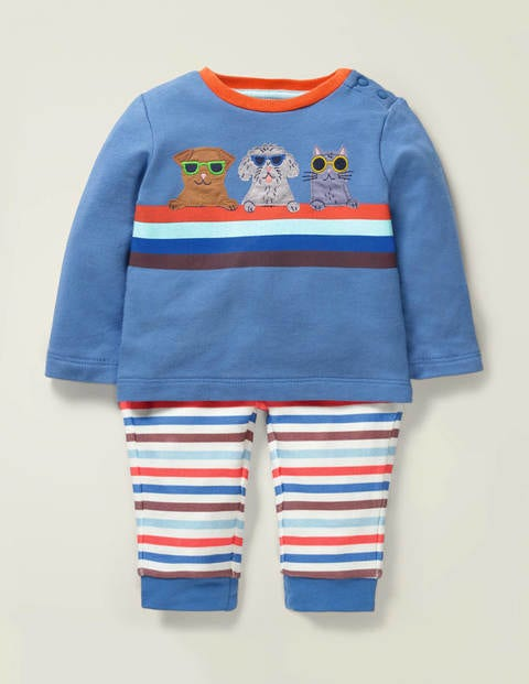 Appliqué Jersey Play Set - Sky Blue