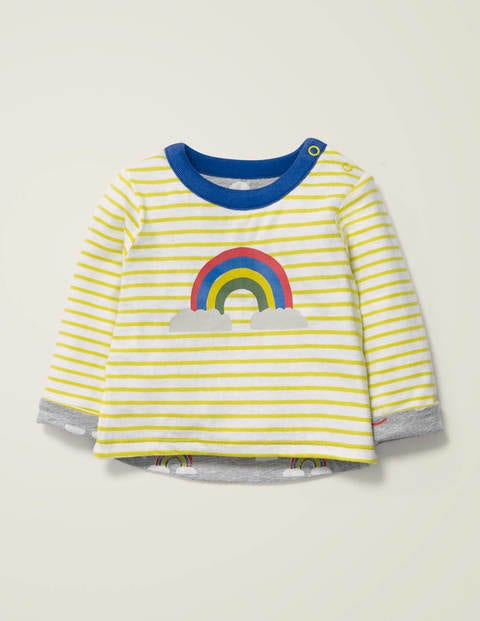 Reversible T-Shirt - Grey Marl Rainbow Cloud