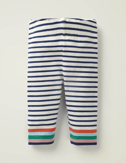 Stripe Leggings - Peach Melba/Boto Pink