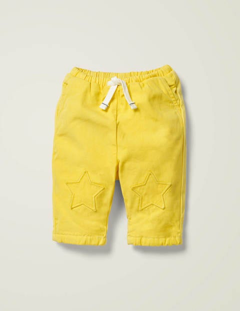 Patch Knees Pants - Daffodil Yellow
