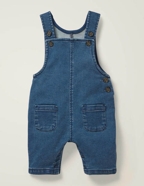 Jersey Denim Overalls - Denim Blue