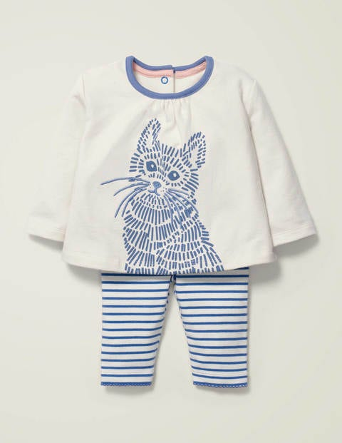 Supersoft Jersey Play Set - Sea Mist Blue Kitten