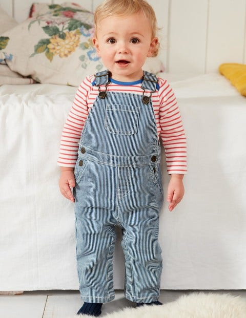 Ticking Overalls - College Navy Ticking