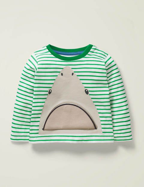 Lift The Flap T-Shirt - Rich Emerald Green Shark