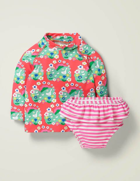 Sunsafe Rash Guard - Multi Duckling Daisy
