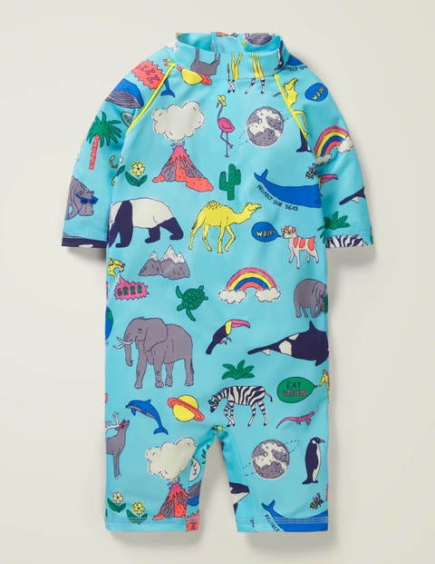 Natural World Surf Suit - Multi Baby Animal Kingdom
