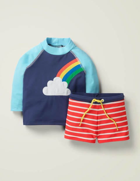 Fun Rash Vest Set - Deep Sea  Blue Rainbow