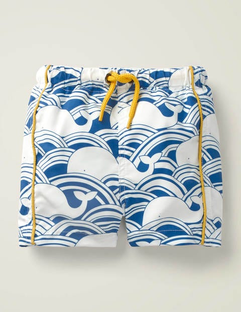 Printed Bathers - Blue Whale Wave