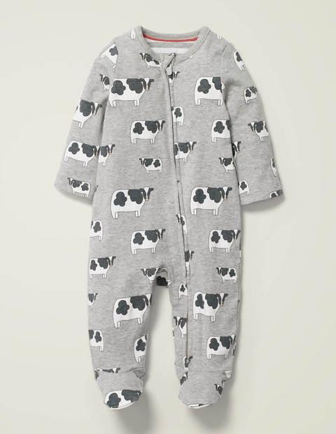 Gemusterter Schlafanzug mit Reißverschluss